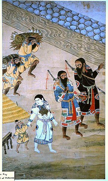 Japanilainen äiti suku puoli hänen poikansa